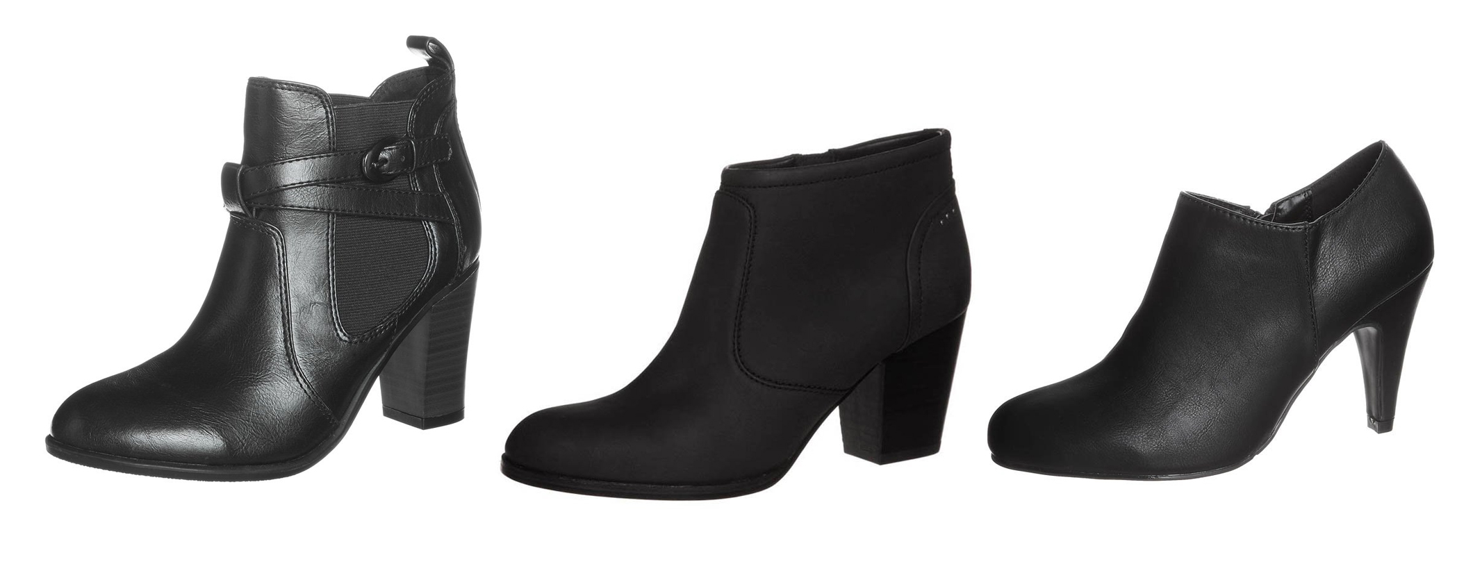 ankle booties fake leather