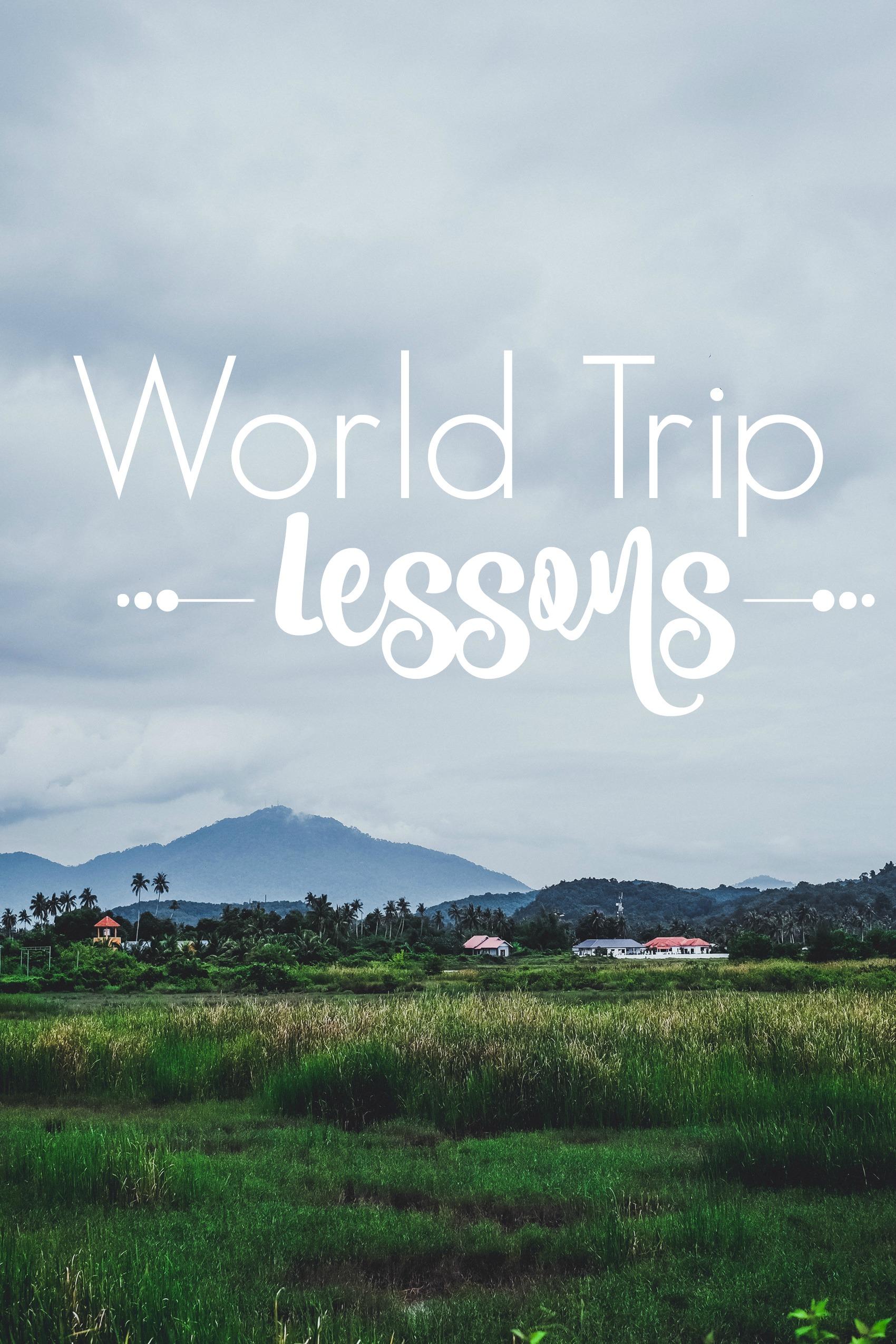 world trip lessons